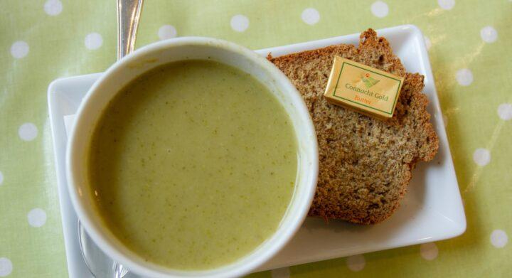 ayurveda recipe, zucchini sage soup,