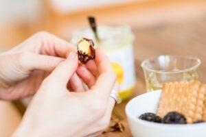ayurveda date almond ghee snack