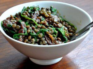 green lentil soup salad ayurveda